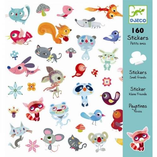 160 מדבקות חיות חמודות  - DJECO