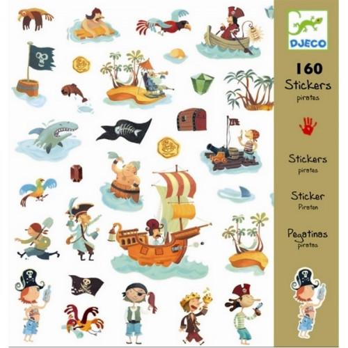 160 מדבקות פיראטים  - DJECO