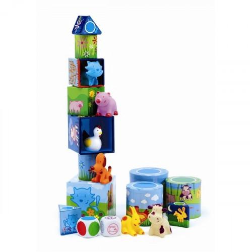 מגדל קוביות - 3 ב-1