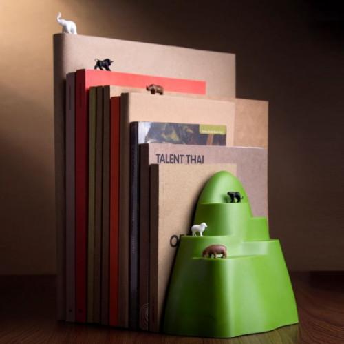 תומך ספרים עם סימניות חיות בר - QUALY