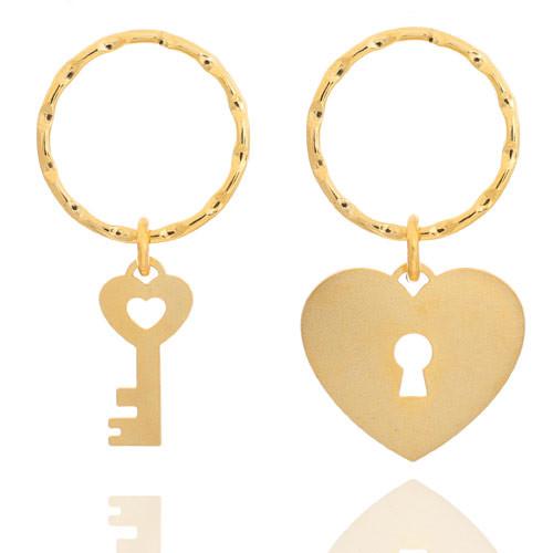 מחזיק מפתחות זוגי - מפתח ומנעול