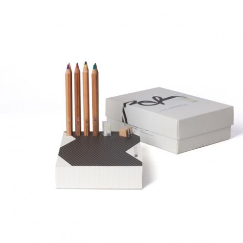 בלוק לבן עפרונות צבעוניים Memo Pad & Organizer