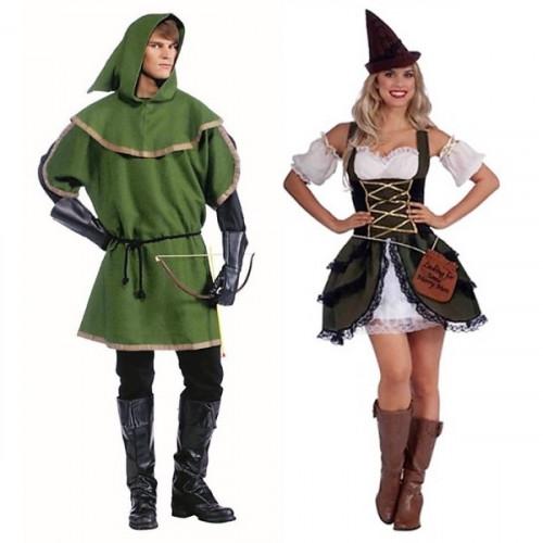 תחפושת זוגית אנשי היער ימי הביניים