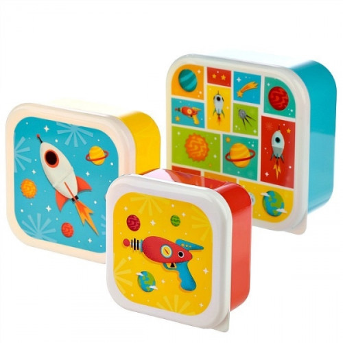 סט 3 קופסאות אוכל קומפקטיות - חלל