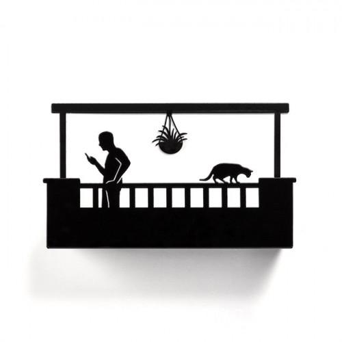 בלקוני - מדף גבר מרפסת מלבנית