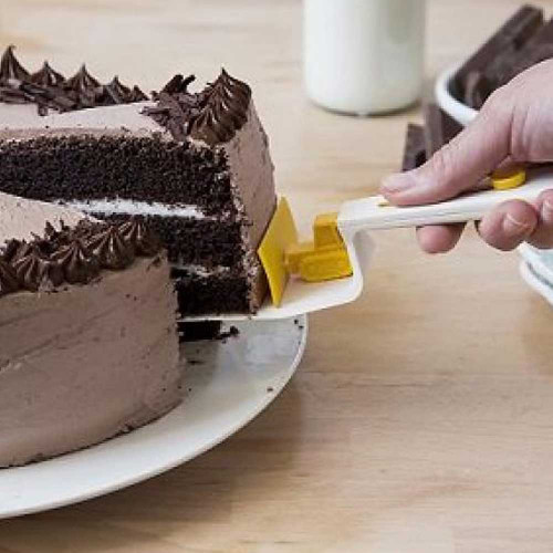 CakeDozer כף הגשה לעוגה לבן אפור