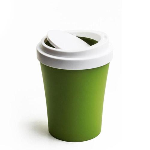 QUALY מיני פח בעיצוב כוס קפה - ירוק