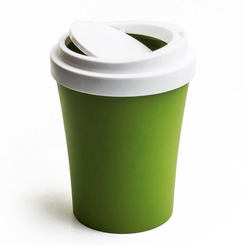 QUALY פח בעיצוב כוס קפה  - ירוק