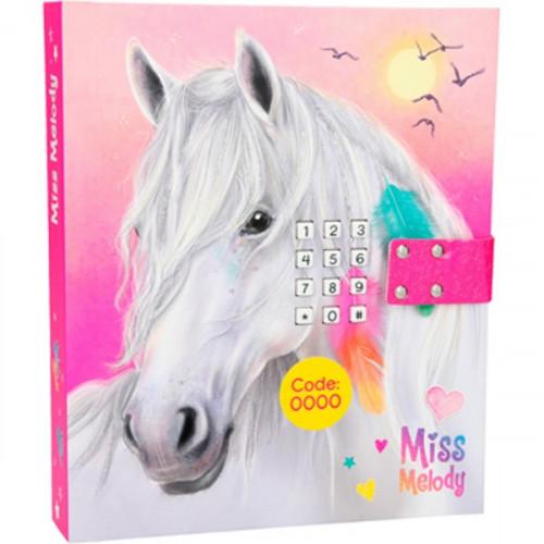 Miss Melody Pink - יומן מנגן עם קוד סודי סוס