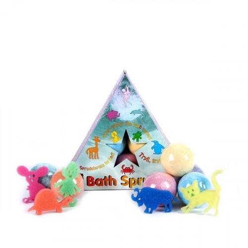 פצצת אמבטיה לילדים עם הפתעה