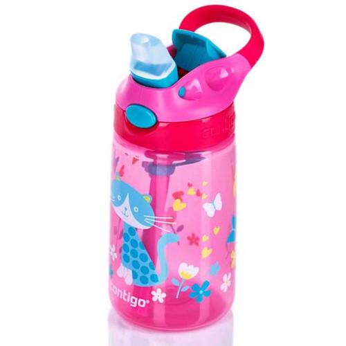 בקבוק שתייה לילדים חתול ורוד CONTIGO GIZMO 420 מ