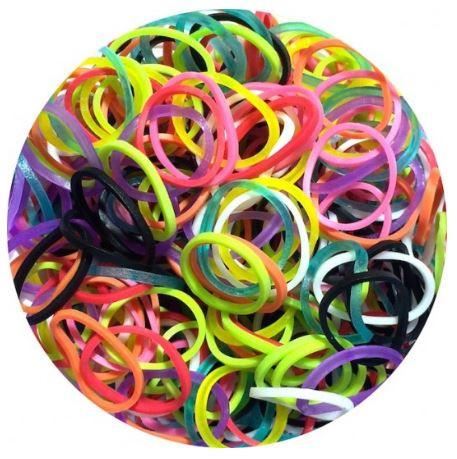מארז 600 גומיות+24 סוגרים לריינבו לום - Rainbow Loom -   צבעוני