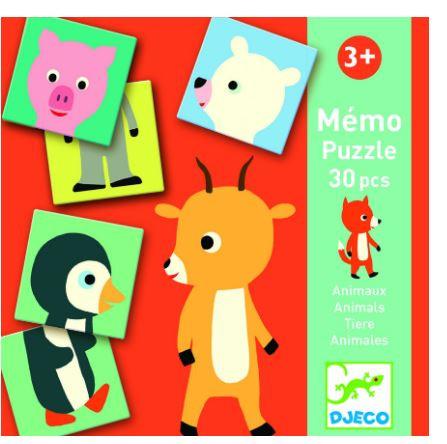 משחק זיכרון - חיות חמודות DJECO