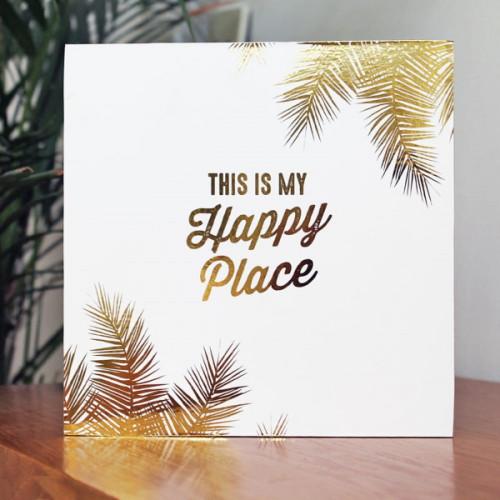 בלוק מעוצב לבן - This Is My Happy Place