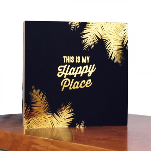 בלוק מעוצב שחור - This Is My Happy Place