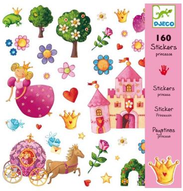 160 מדבקות נסיכות  - DJECO