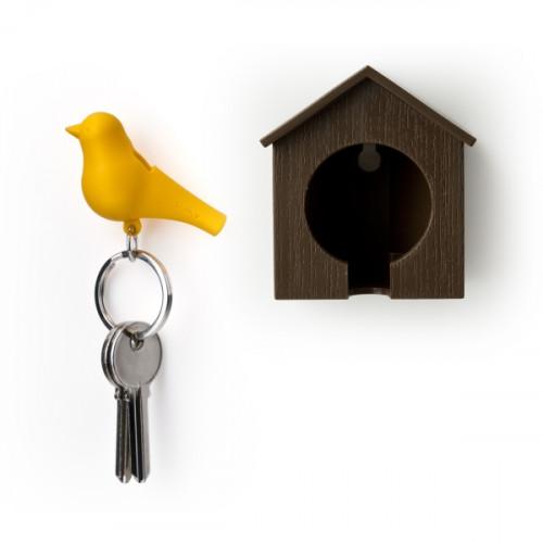 QUALY  מתלה ומחזיק מפתחות - ציפור