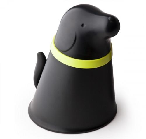 כלי לאחסון אוכל לכלב שחור - QUALY