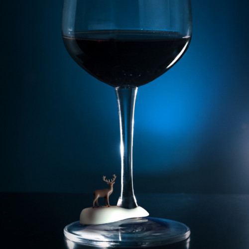 סמני כוסות יין חיות קוטב- QUALY