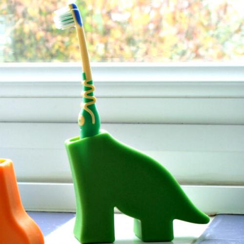 מעמד למברשת שיניים - דינוזאור