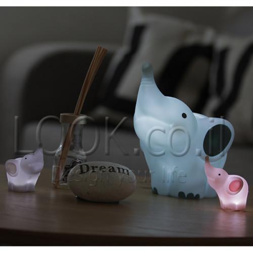 מנורת מיני פיל ורוד LED