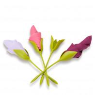 Bloom סט 4 מחזיקי מפיות בצורת פרחים