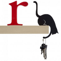 מתלה חתול למדף - שחור