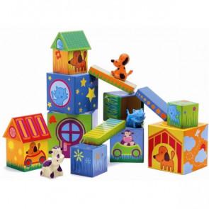 קובמינו - מגדל קוביות עם חיות