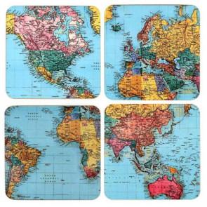 מארז תחתיות כוסות- World Traveller