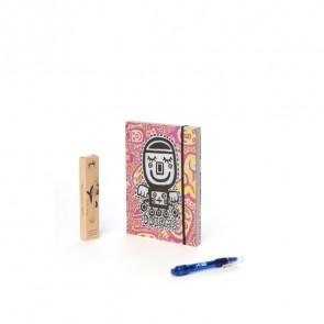 מחברת חלומות - בעיצוב האמן תמיר שפר בצבע מג'נטה