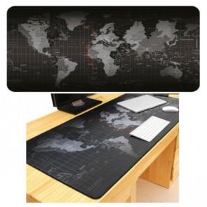 משטח לשולחן - מפת העולם בשחור