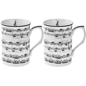 זוג ספלי תווים מוזיקליים