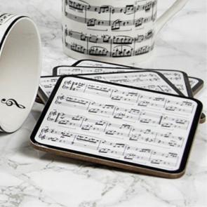 תחתיות לכוסות תווים מוזיקליים