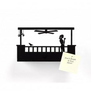 בלקוני - מדף מפתחות אישה מרפסת מלבנית