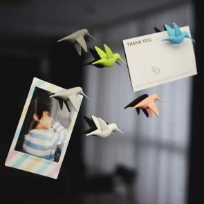QUALY סט מגנטים מעוצבים למקרר - ציפורים פסטל