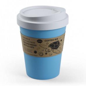 QUALY פח בעיצוב כוס קפה  - תכלת פסטל