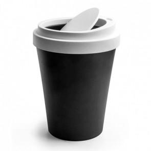 QUALY מיני פח בעיצוב כוס קפה - שחור