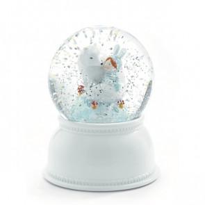 מנורת לילה כדור בדולח - ילדי הקוטב