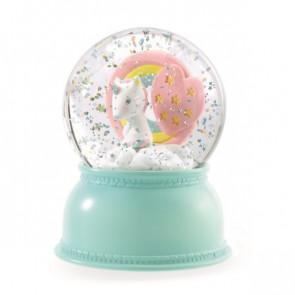 מנורת לילה כדור בדולח - חד קרן