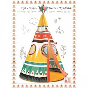 אוהל טיפי צבעוני למשחק DJECO