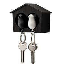 QUALY  מתלה ומחזיק מפתחות זוגי- ציפור
