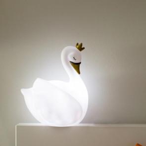 מנורת לילה ברבור מלכותי לבן