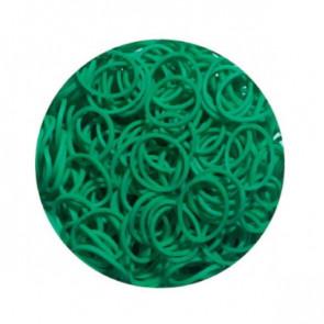 מארז 600 גומיות+24 סוגרים לריינבו לום - Rainbow Loom - טורקיז