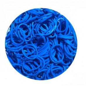 מארז 600 גומיות+24 סוגרים לריינבו לום - Rainbow Loom -   כחול