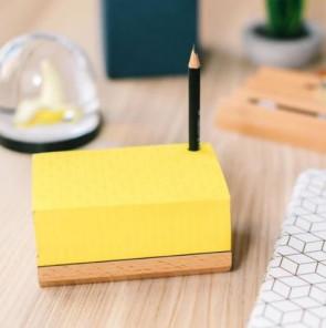 בלוק נייר ממו צהוב עם עפרון- מיני טובלרונו