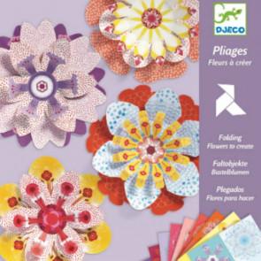 יצירה אומנות הקיפול - אוריגמי פרחים DJECO