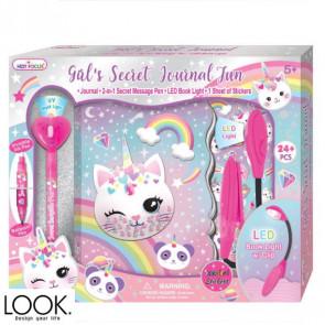 יומן הסודי עם עט מרגלים ומנורה - Meow