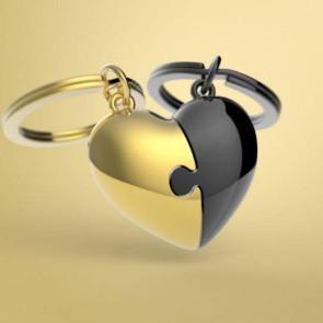 מחזיק מפתחות פאזל לב