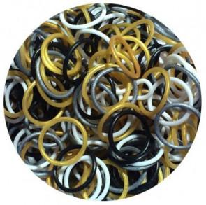 מארז 300 גומיות+24 סוגרים לריינבו לום - Rainbow Loom - מיקס מטאלי