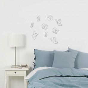 9 UMBRA MONARCHY פרפרים דקורטיביים לקיר- לבן